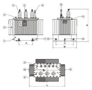 Cấu tạo máy biến áp dầu 3 pha